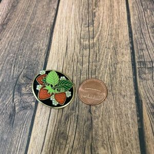 Hallmark Vintage Cloisonné Strawberry Pin